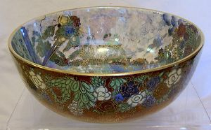 A G Harley Jones Wilton Ware Lustre Fairyland Bowl - sold